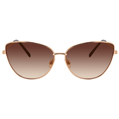 Women's Metal Cateye Sunglasses - A New Day™ Gold - image 1 of 2