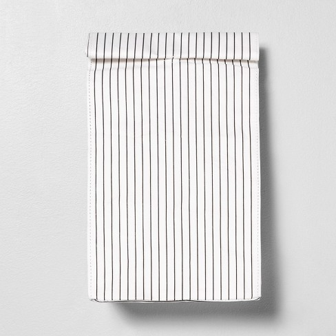 Lunch Bag White / Black Stripe - Hearth & Hand™ with Magnolia - image 1 of 3