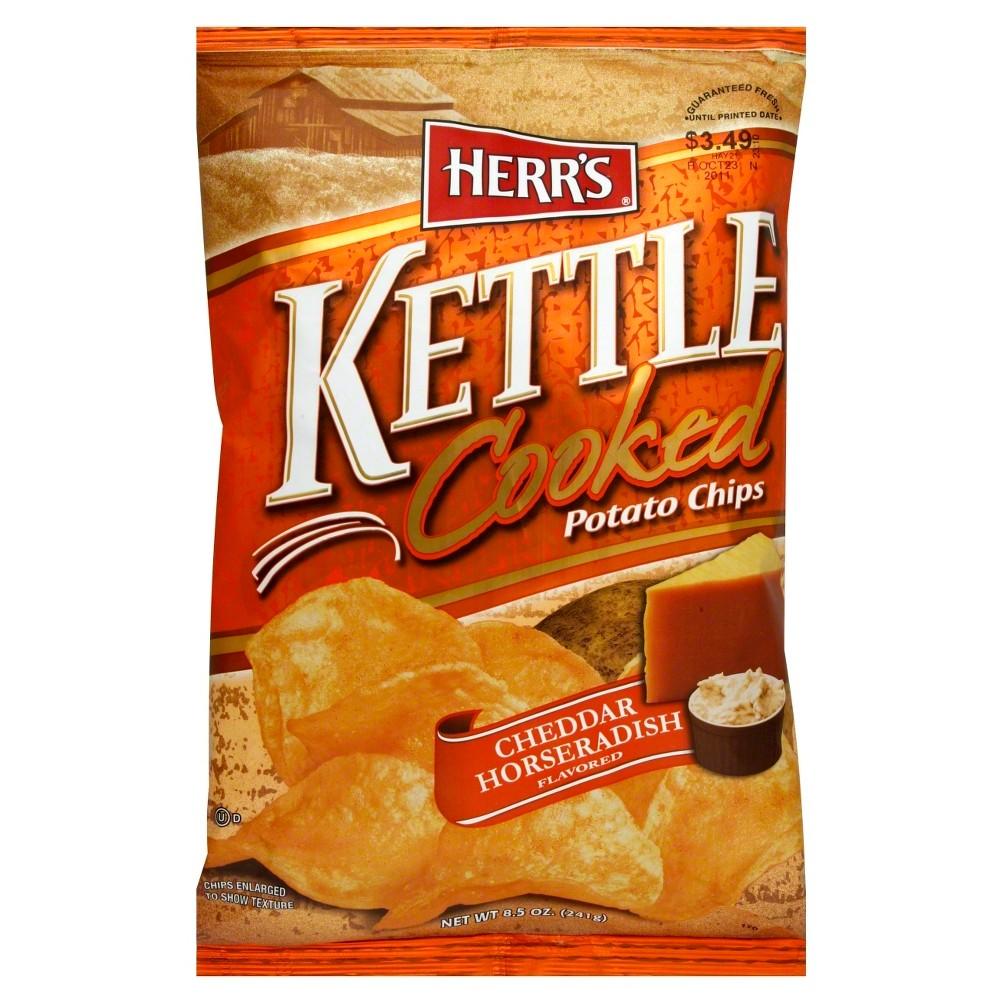 Herr's Kettle Cooked Cheddar Horseradish Potato Chips - 8.5 oz
