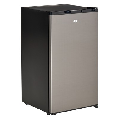 HOMCOM Compact Refrigerator 3.1 Cu Ft Mini Fridge with Adjustable Temperature Removable Glass Shelves Reversible Door for Office Motor Home