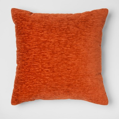 Chenille Square Throw Pillow Orange - Threshold™