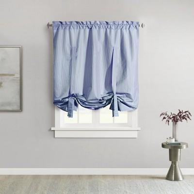 "Commonwealth Home Fashions ThermaLogic Ticking Stripe High Quality & Stylish Prescott Base Window Accessories Set - 40""x63"""