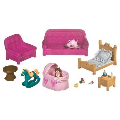 Li'l Woodzeez Miniature Furniture Playset 23pc - Living Room & Nursery Set