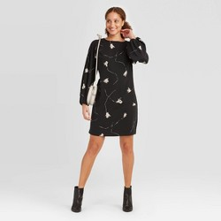 Women's Long Sleeve Keyhole Neck Dress - A New Day™