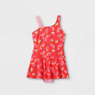 Girls' Watermelon Print Skirted One Piece Swimsuit - Cat & Jack™ Pink