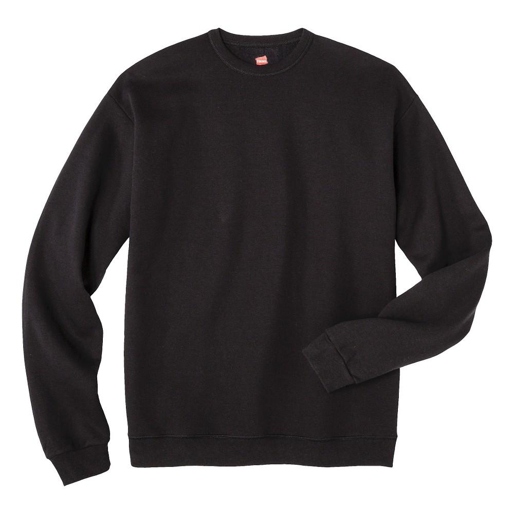 Hanes Premium Men's Fleece Crew-Neck Sweatshirt - Black L