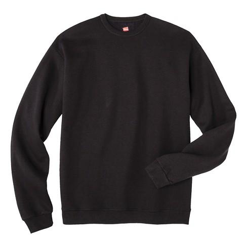 d823d5fd45 Hanes® Premium Men s Fleece Crew-Neck Sweatshirt - Black L   Target
