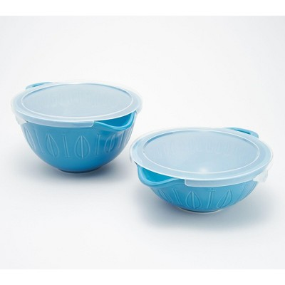 Mad Hungry 2-Piece Lip'n'Loop Mixing Bowl with Lids Model K48001