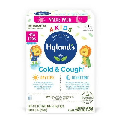 Hyland's 4 Kids Day & Night Cold 'n Cough Relief Liquid - 8 fl oz
