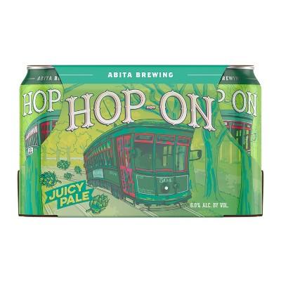 Abita Hop-On Juicy Pale Ale Beer - 6pk/12 fl oz Cans