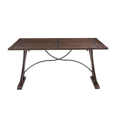 Camden Folding Top Extendable Dining Table Dark Brown - Picket House Furnishings