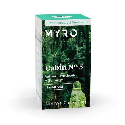 Myro Cabin No. 5 Deodorant Refill Pod - 2 oz