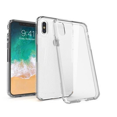 BasAcc Crystal PC/TPU Hybrid Phone Clip-on Hard Case Cover for Apple iPhone XS / iPhone X