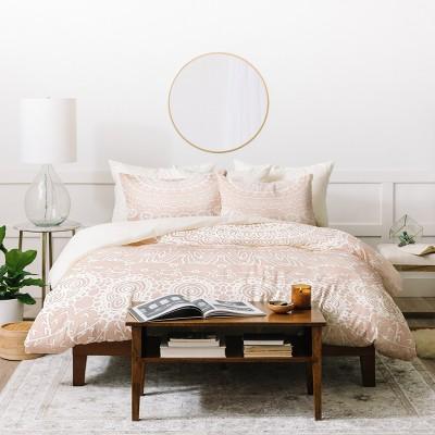 Monika Strigel Waiting For You Rose Duvet Cover Set Pink - Deny Designs