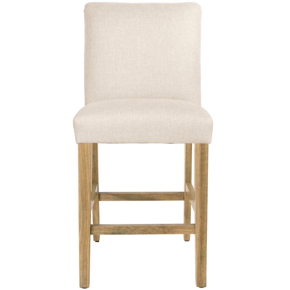Parsons Counter Height Barstool Talc Linen with Natural Legs - Threshold Price