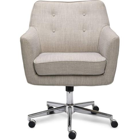 Style Ashland Home Office Chair Light Gray Serta Target