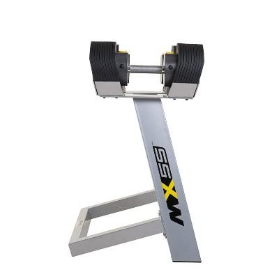 MX Select MX-55 Pro Style Adjustable Dumbbell Set w/ 10 to 55 Pound Range, Black