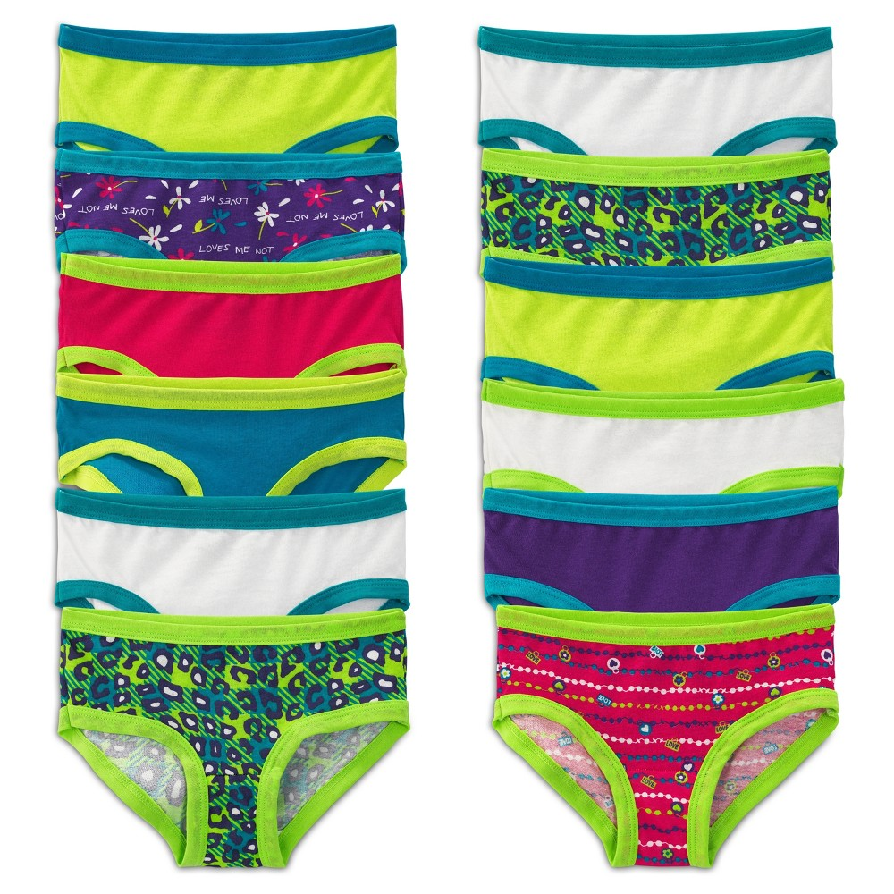 Girls' Fruit of the Loom Hipster Briefs - 10, Multicolored