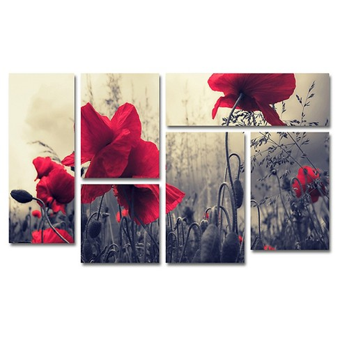 'Red For Love' by Philippe Sainte-Laudy Ready to Hang Multi Panel Art Set - image 1 of 1