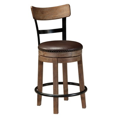Pinnadel Uph Swivel Counter Height Barstools Light Brown - Signature Design by Ashley