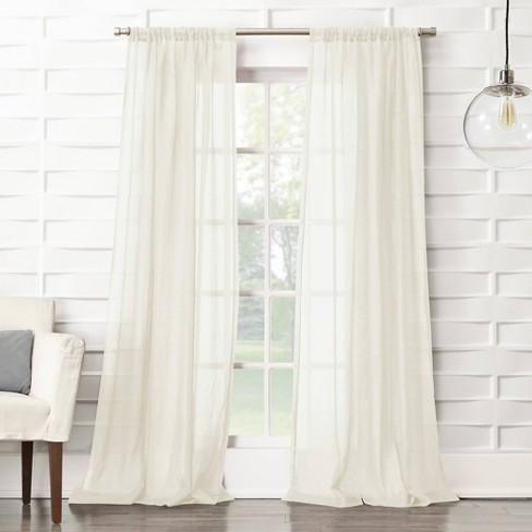 Avril Crushed Textured Semi Sheer Rod Pocket Curtain Panel No 918 Target