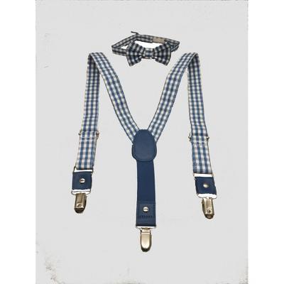 Toddler Boys' Bowtie & Suspender Set - Cat & Jack™ Blue 2T-5T