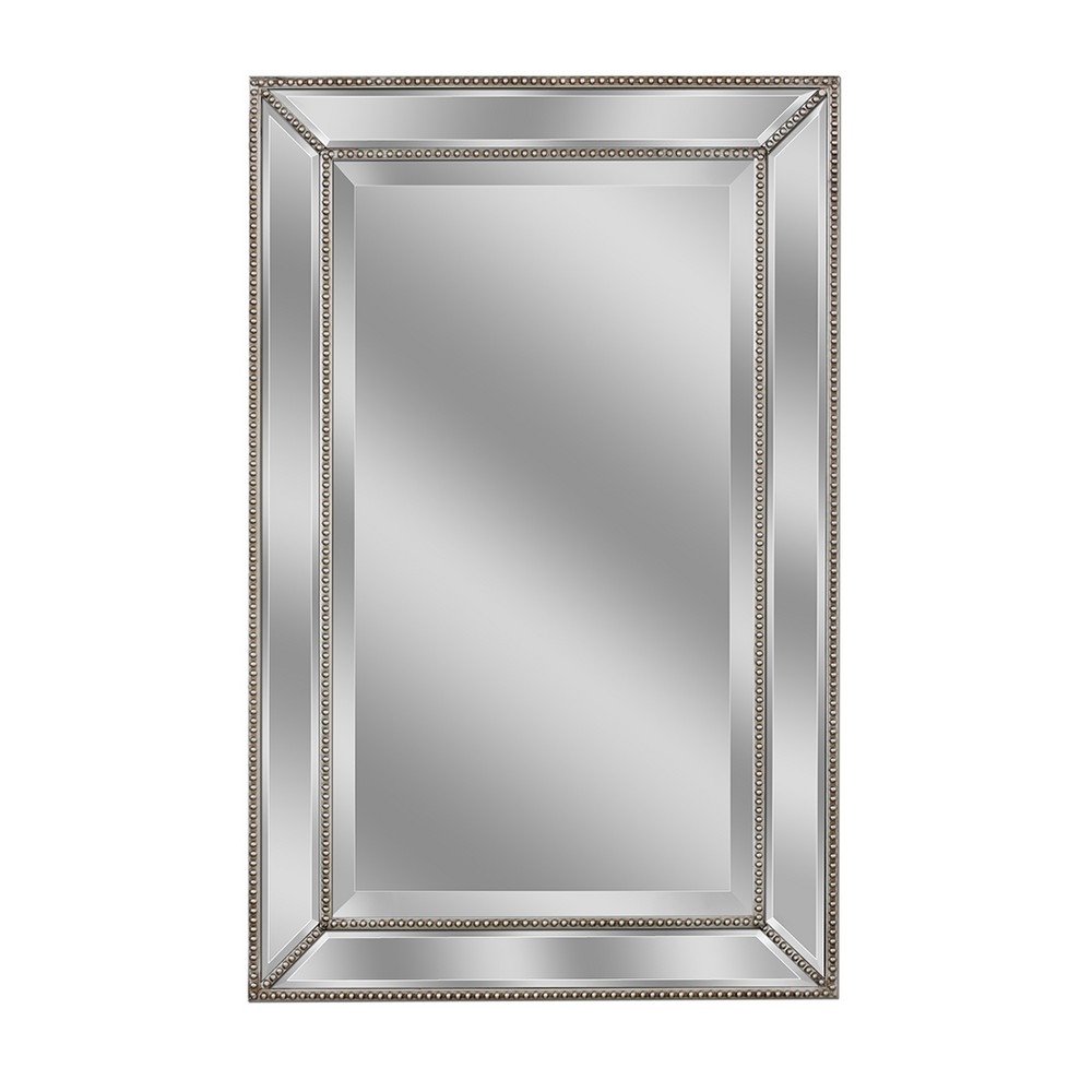 "Image of ""36"""" x 24"""" Metro Beaded Mirror - Head West"""