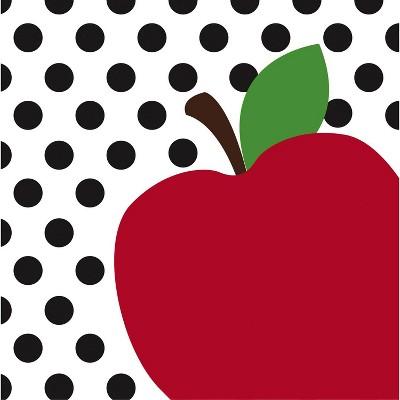 Evergreen Cypress Home Teacher's Apple Paper Lunch Napkin, 20 count