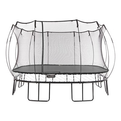 Springfree Trampoline S155 Kids Jumbo Square 13 Foot Trampoline w/ Safety Enclosure Net and SoftEdge Jump Bounce Mat for Outdoor Backyard Bouncing