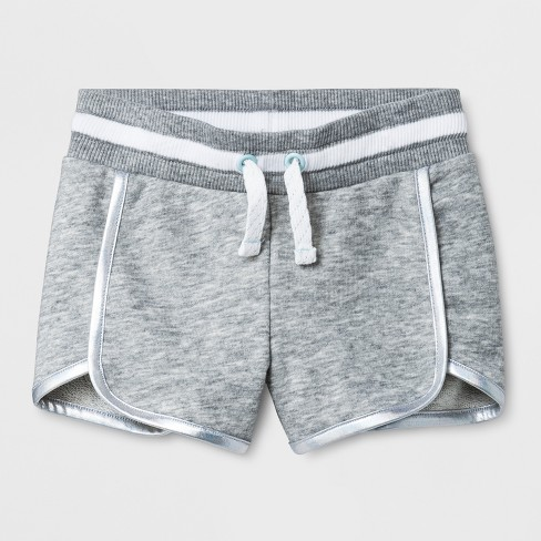 Toddler Girls' Fashion Shorts - Cat & Jack™ Heather Gray - image 1 of 2