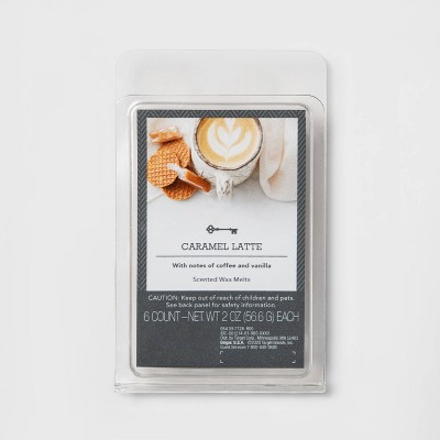 6ct Caramel Latte Scented Wax Melts - Threshold™