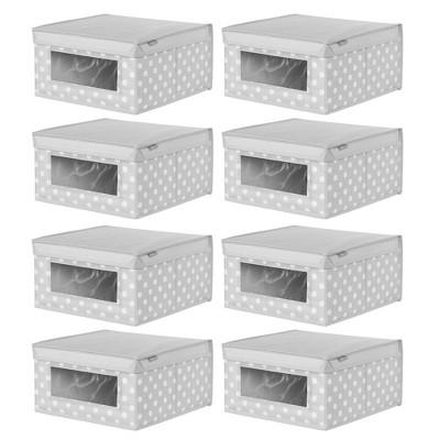mDesign Soft Fabric Child/Kid Storage Organizer Box - 8 Pack
