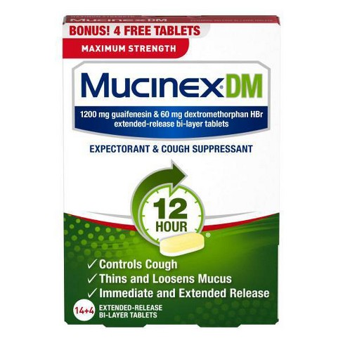 Mucinex DM Guaifenesin Max Strength Tablets - 18ct - image 1 of 2