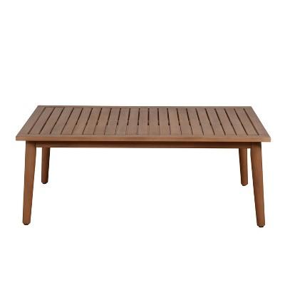Omer Patio Eucalyptus Wood Table - Amazonia
