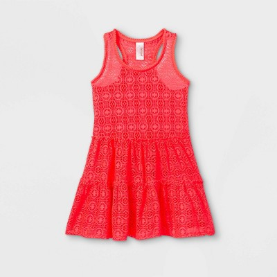 Girls' Crochet Solid Cover Up - Cat & Jack™