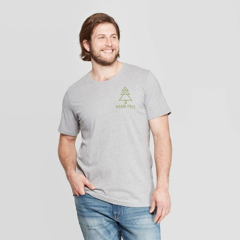 Men's Big & Tall Printed Short Sleeve T-Shirt - Goodfellow & Co™ Thundering Gray - image 1 of 3