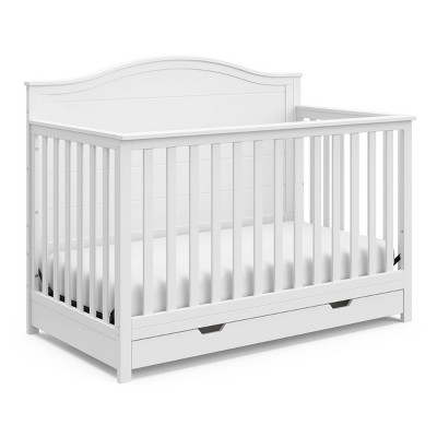 Storkcraft Moss 4-in-1 Convertible Crib with Drawer - White