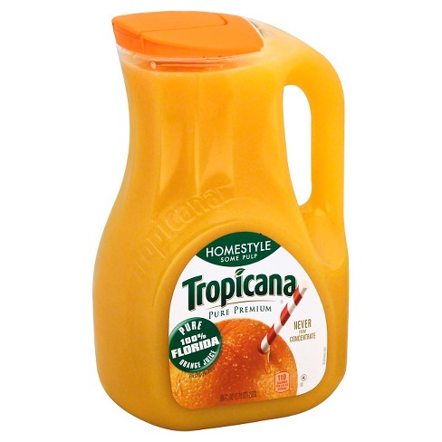 Tropicana Pure Premium Orange Juice Some Pulp - 89 oz - image 1 of 1
