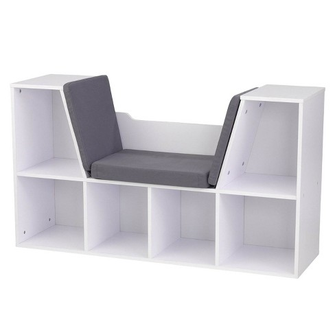 KidKraft Children's Bookcase with Reading Nook and Cushions, White | 14230 - image 1 of 4