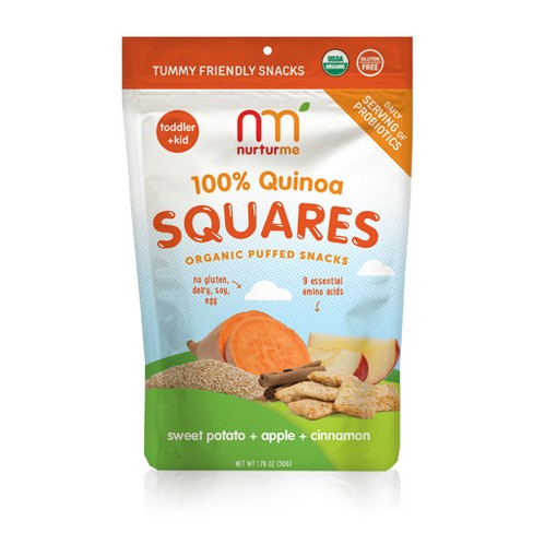 Nurturme Organic Quinoa Squares Sweet Potato + Apple + Cinnamon - 5.28oz (3pk) - image 1 of 2