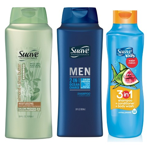 Suave Professionals Shampoo + 2-in-1 Ocean Charge Shampoo And Suave Kids Set - 3pk - image 1 of 2