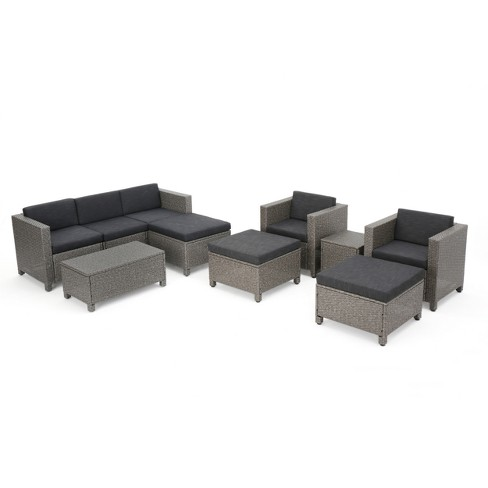 Puerta 10pc Wicker Sofa Collection - Christopher Knight Home - image 1 of 4