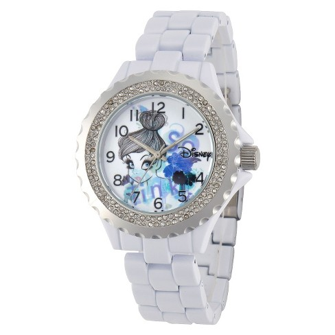 Disney® Tinker Bell Link Watch with Accent Stones White - image 1 of 1