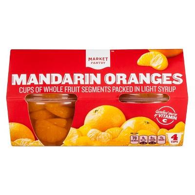 Mandarin Oranges In Light Syrup 4ct - Market Pantry™