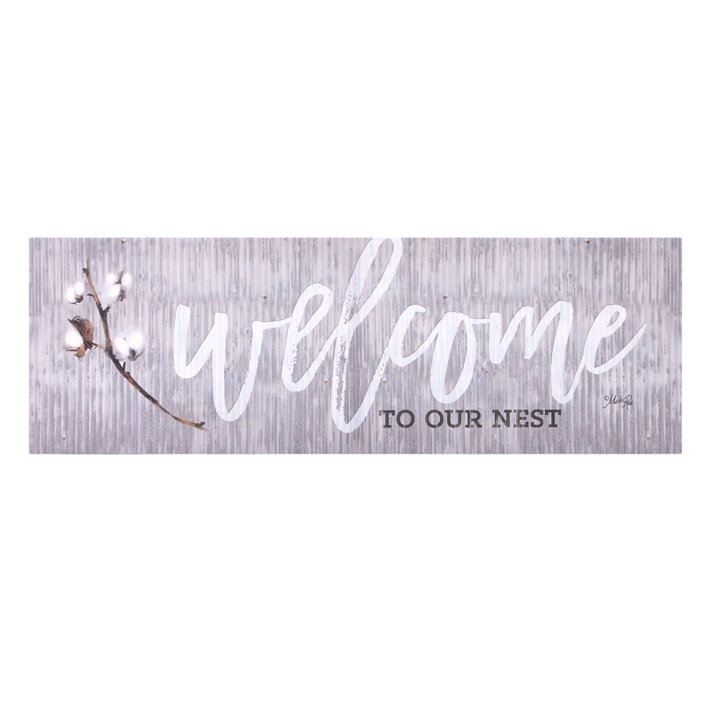 """Image of """"12""""""""x36"""""""" Welcome To Our Nest Canvas Art Gray - Patton Wall Decor"""""""