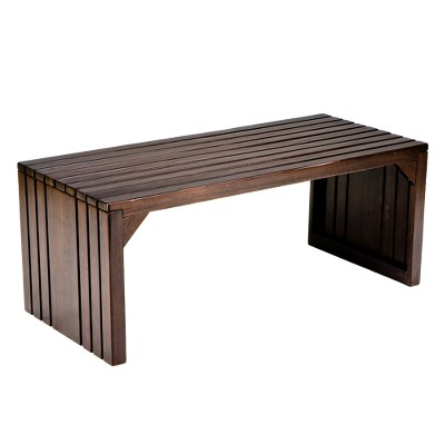Slat Bench Blackened Espresso - Southern Enterprises