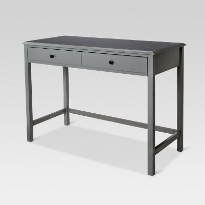 Windham Wood Writing Desk with Drawers Gray - Threshold™