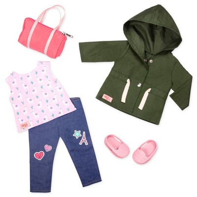 """Our Generation Deluxe Travel Outfit for 18"""" Dolls - Alpaca Your Bags"""