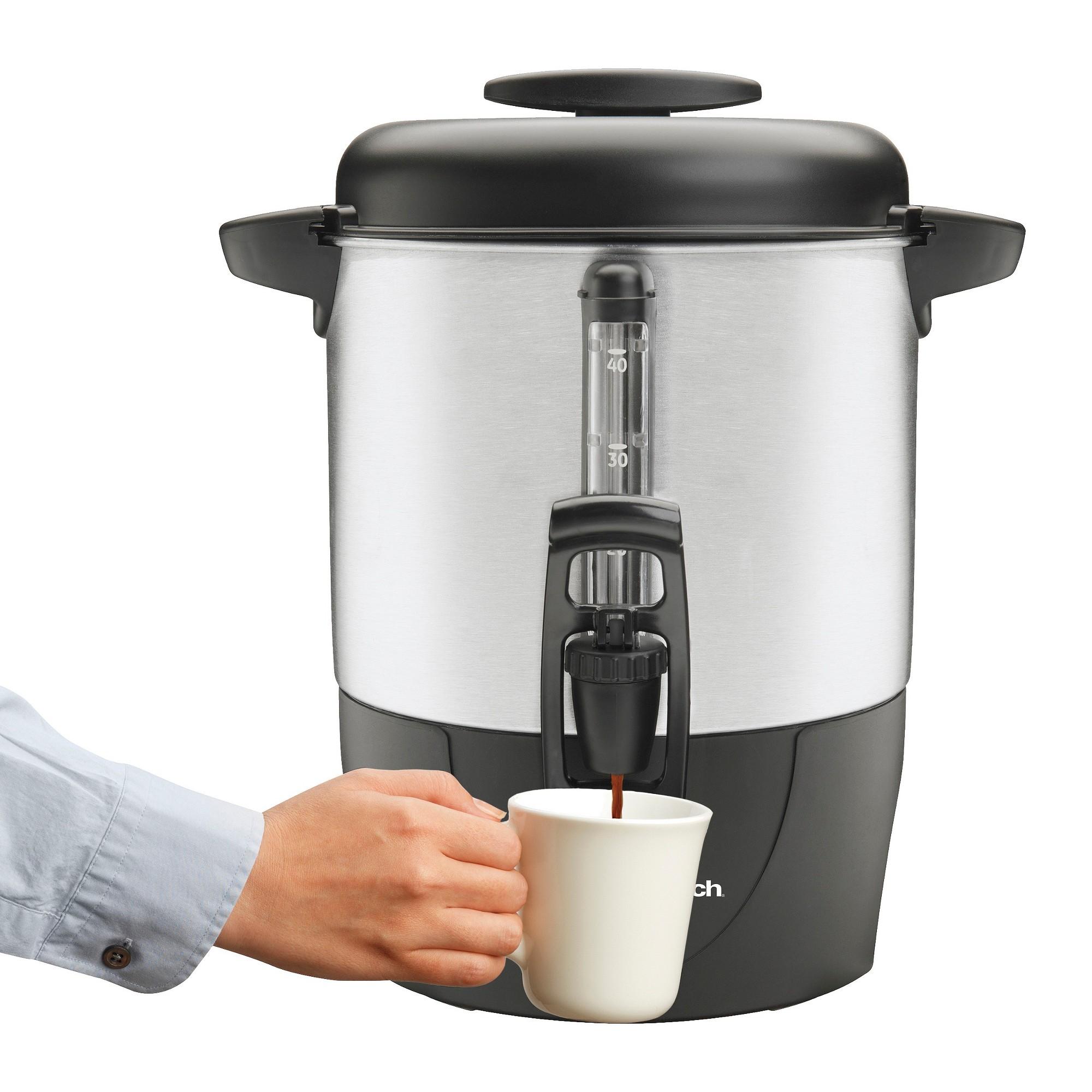 Hamilton Beach Brew Station 40 Cup Coffee - 40514, Silver