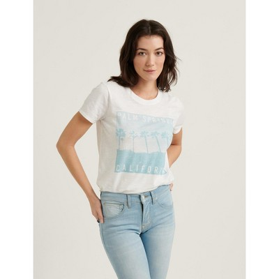 Lucky Brand Women's Palm Springs Vintage Tee - White